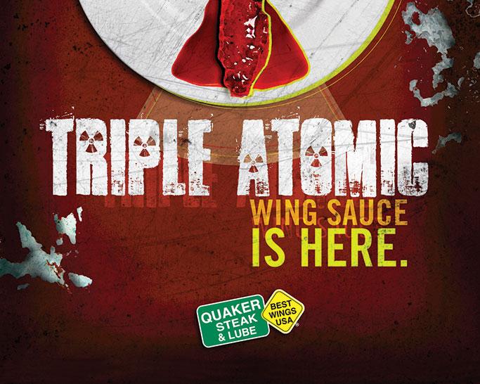 quaker steak triple atomic wing sauce