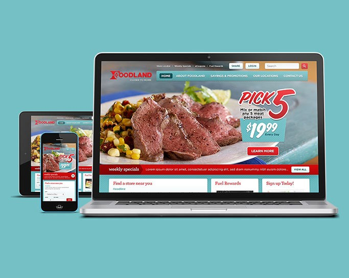 Foodland Website View